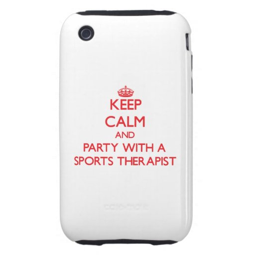 Guarde la calma y vaya de fiesta con un terapeuta  iPhone 3 tough coberturas