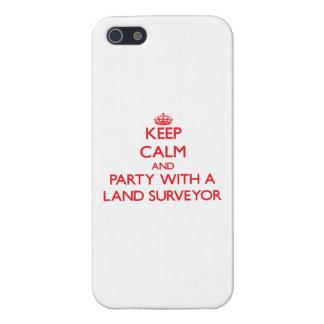 Guarde la calma y vaya de fiesta con un topógrafo  iPhone 5 fundas