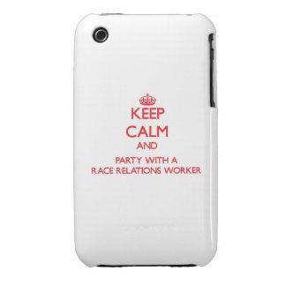 Guarde la calma y vaya de fiesta con un trabajador iPhone 3 Case-Mate protectores