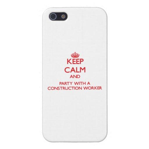 Guarde la calma y vaya de fiesta con un trabajador iPhone 5 carcasa