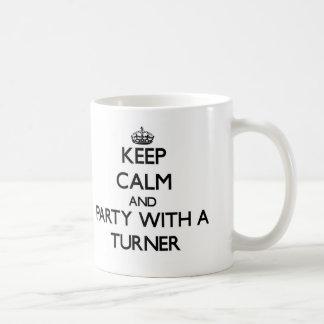 Guarde la calma y vaya de fiesta con un Turner Taza De Café