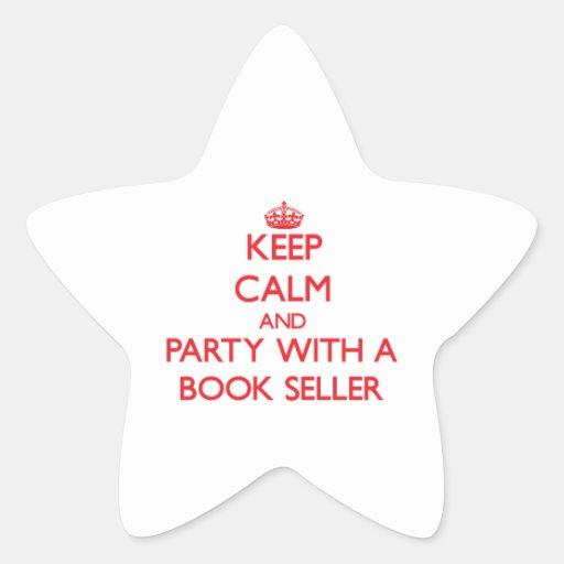 Guarde la calma y vaya de fiesta con un vendedor d calcomanía forma de estrellae