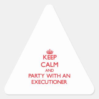 Guarde la calma y vaya de fiesta con un verdugo colcomanias trianguladas personalizadas