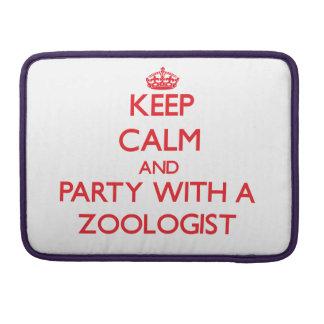 Guarde la calma y vaya de fiesta con un zoologista fundas para macbook pro