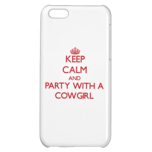 Guarde la calma y vaya de fiesta con una vaquera
