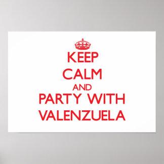 Guarde la calma y vaya de fiesta con Valenzuela