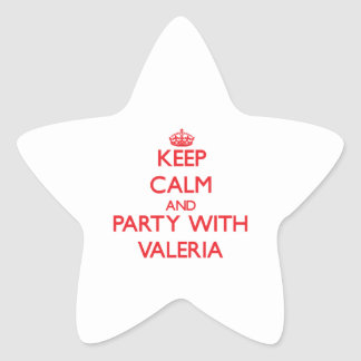 Guarde la calma y vaya de fiesta con Valeria Calcomanías Forma De Estrellas