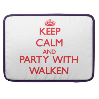 Guarde la calma y vaya de fiesta con Walken Funda Para Macbook Pro
