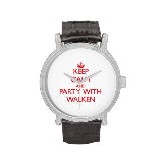 Guarde la calma y vaya de fiesta con Walken Reloj De Mano