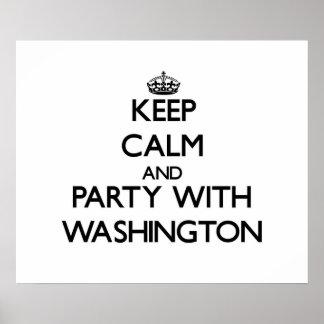 Guarde la calma y vaya de fiesta con Washington Impresiones