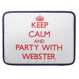 Guarde la calma y vaya de fiesta con Webster Fundas Para Macbooks