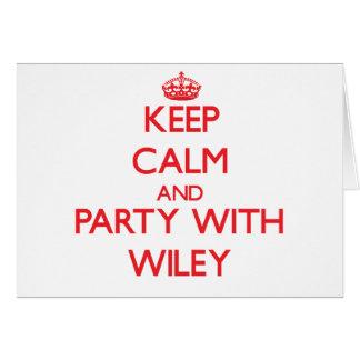 Guarde la calma y vaya de fiesta con Wiley Tarjetón