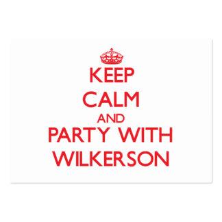 Guarde la calma y vaya de fiesta con Wilkerson Tarjetas De Visita