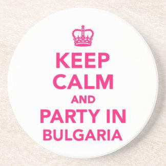 Guarde la calma y vaya de fiesta en Bulgaria Posavasos Cerveza