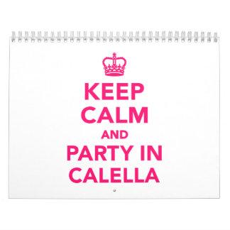 Guarde la calma y vaya de fiesta en Calella Calendario De Pared