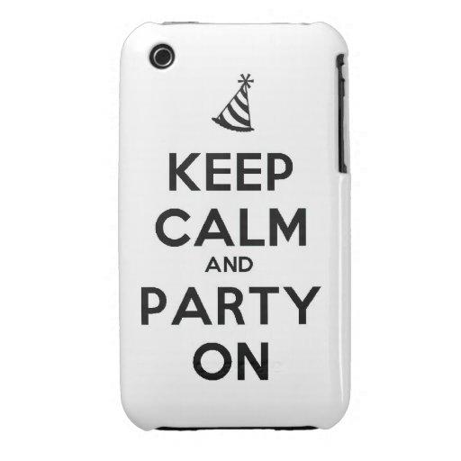 Guarde la calma y vaya de fiesta en coo de la Case-Mate iPhone 3 cárcasas
