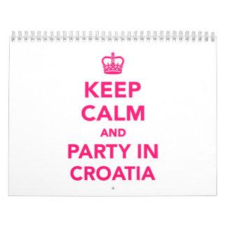 Guarde la calma y vaya de fiesta en Croacia Calendarios De Pared