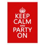 Guarde la calma y vaya de fiesta en (en cualquier  anuncio