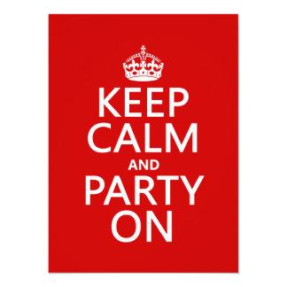 Guarde la calma y vaya de fiesta en (en cualquier