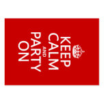 Guarde la calma y vaya de fiesta en (en cualquier  plantilla de tarjeta de visita
