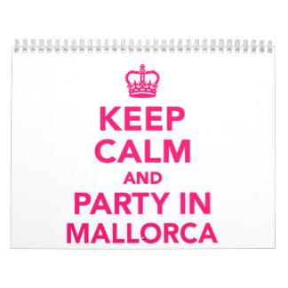 Guarde la calma y vaya de fiesta en Mallorca Calendario