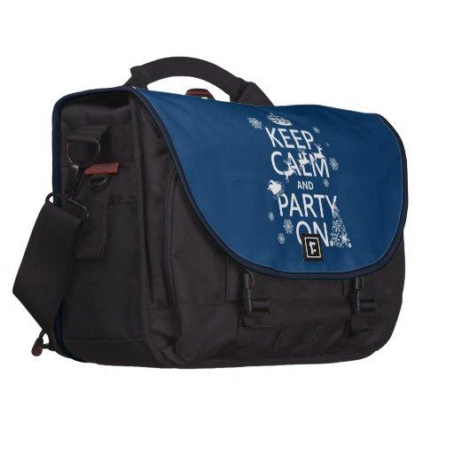 Guarde la calma y vaya de fiesta en (navidad) (col bolsas para portatil
