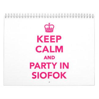 Guarde la calma y vaya de fiesta en Siofok Calendario