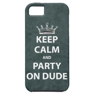 Guarde la calma y vaya de fiesta en tipo funda para iPhone SE/5/5s