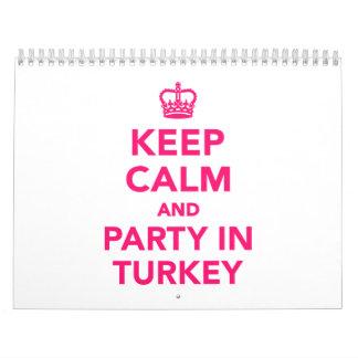 Guarde la calma y vaya de fiesta en Turquía Calendario