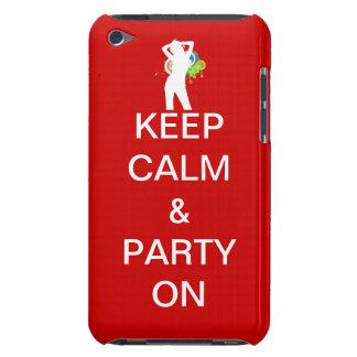Guarde la calma y vaya de fiesta encendido Case-Mate iPod touch coberturas