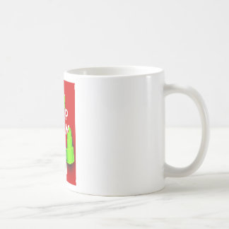 Guarde la calma y vaya de fiesta encendido en taza básica blanca