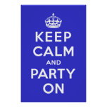 Guarde la calma y vaya de fiesta encendido poster