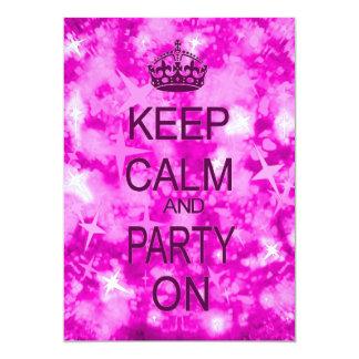 Guarde la calma y vaya de fiesta la invitación