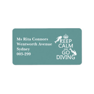 Guarde la calma y vaya (equipo de submarinismo) a etiqueta de dirección