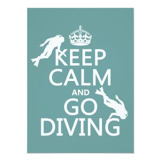 Guarde la calma y vaya (equipo de submarinismo) a anuncio personalizado