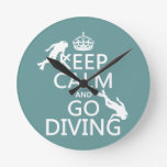 Guarde la calma y vaya (equipo de submarinismo) a  reloj
