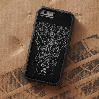 Guarde la calma y vaya mecánico rápido de la funda para  iPhone 6 tough xtreme