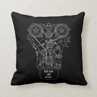 Guarde la calma y vaya servicio rápido del mecánic almohada