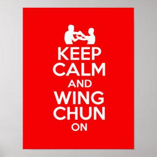 ¡Guarde la calma y váyase volando Chun encendido!! Póster