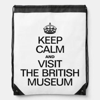 GUARDE LA CALMA Y VISITE BRITISH MUSEUM MOCHILAS