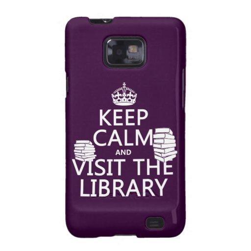 Guarde la calma y visite la biblioteca - en cualqu galaxy s2 cobertura