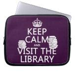Guarde la calma y visite la biblioteca - en cualqu fundas computadoras
