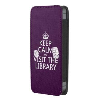 Guarde la calma y visite la biblioteca - en funda para iPhone 5