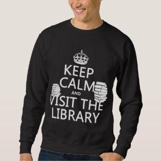 Guarde la calma y visite la biblioteca - en suéter