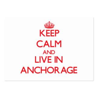 Guarde la calma y viva en Anchorage Plantillas De Tarjetas De Visita