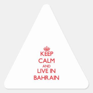 Guarde la calma y viva en Bahrein Colcomanias Trianguladas Personalizadas