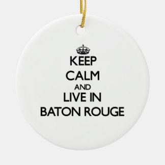 Guarde la calma y viva en Baton Rouge Ornamentos De Reyes Magos