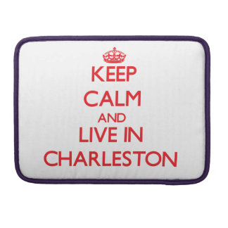 Guarde la calma y viva en Charleston Fundas Macbook Pro