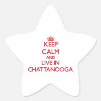 Guarde la calma y viva en Chattanooga Calcomanía Cuadrada Personalizada