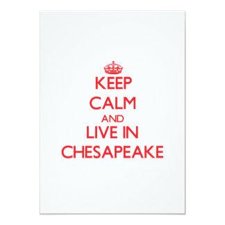 Guarde la calma y viva en Chesapeake Comunicados Personales
